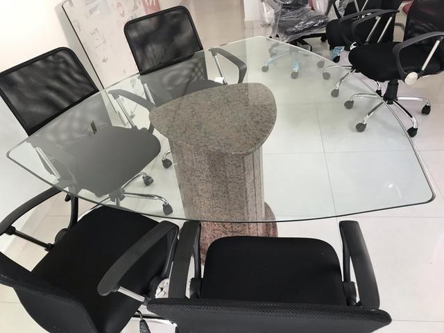 Mesa de reunião de vidro - Foto 4