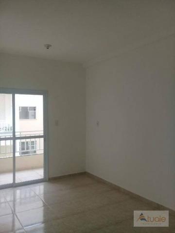 Apartamento com 2 dormitórios à venda, 59 m² - jardim santa rita i - nova odessa/sp