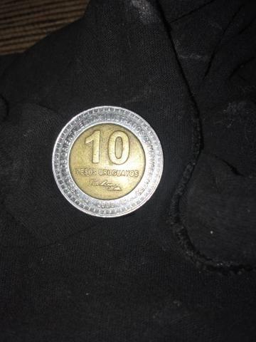 Vendo moeda 10 pesos uruguaios ano *2000* raríssima peça de colecionador - Foto 2