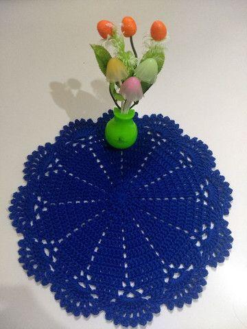 Toalhinhas em crochê feito com fio Charme da círculo - Foto 2