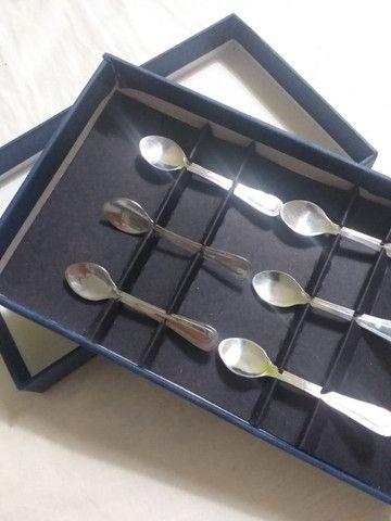 Jogo 06 mini-colheres de café de aço inox da WOLF - Foto 2