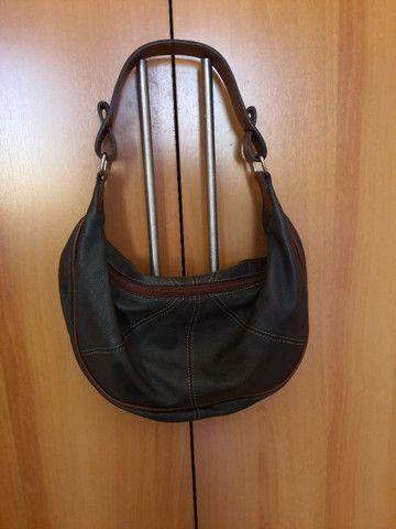 Bolsa de mão forrada - Nobuck - Foto 2