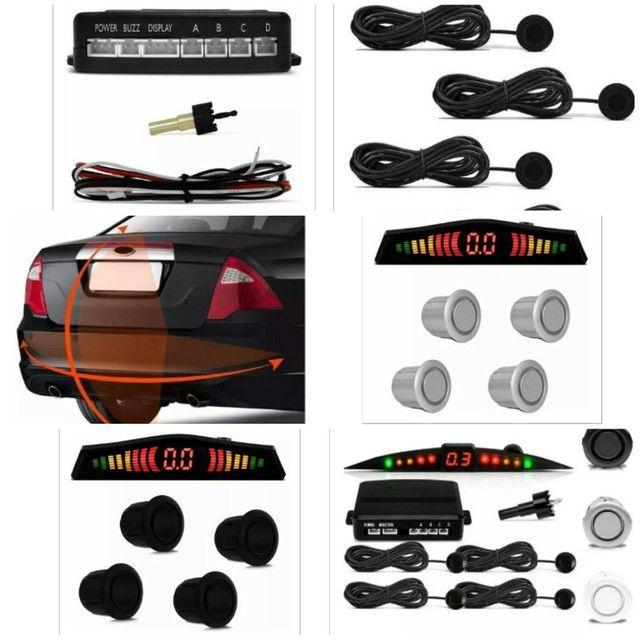 Kit sensor Ré estacionamento automotivo carro