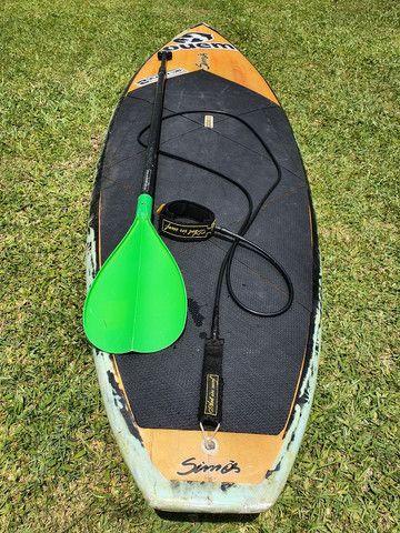 Prancha stand up paddle de fibra completa com remo, leche e quilba! - Foto 5