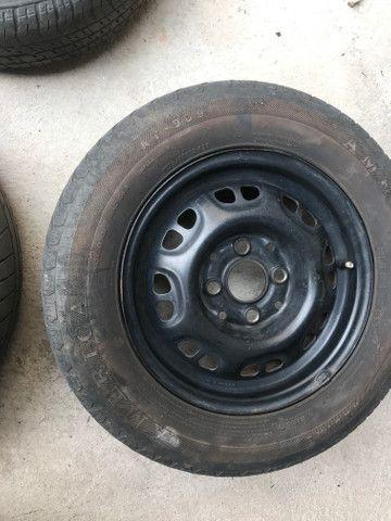 Roda + pneu 175/70/13 R$ 99 - Foto 3