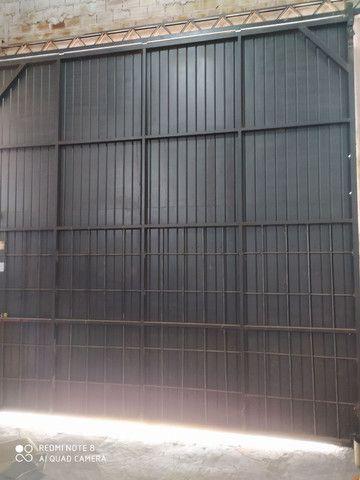 Porta de correr para barracão 4m x 4m - Foto 2
