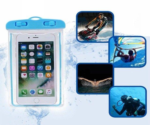 Capa De Celular A Prova De Água Universal - Tire Fotos embaixo d'água - Foto 6