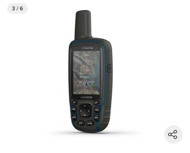 GPS Portátil Garmin GPSmap 64x Mapa Topoactive América do Sul  - Foto 4