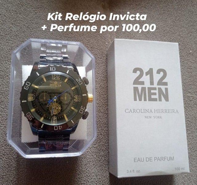 Kit Relógio e Perfume 100 ML  - Foto 4