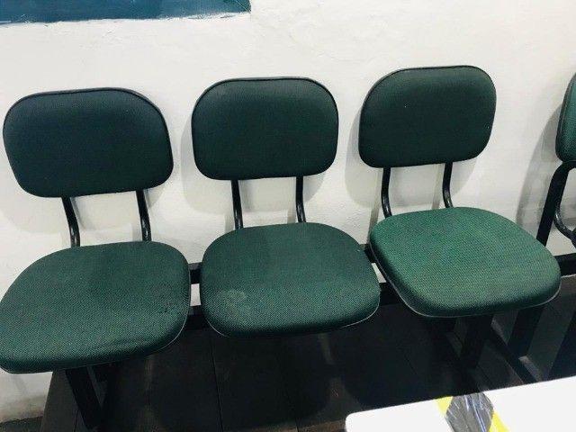 logarina de 3 ou 2 lugares - cadeiras - longarina de escritório - Foto 2