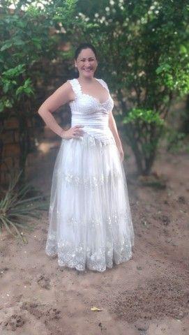 Vestido de noiva - usado apenas uma vez. - Foto 5