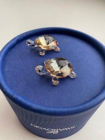 Casal de Tartarugas Cristal Swarovski na Caixa Original com Etiqueta - Foto 2