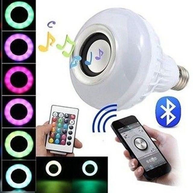 Lâmpada Led RGB com Caixa de Som Ideal Para Decorar Ambiente - Foto 3