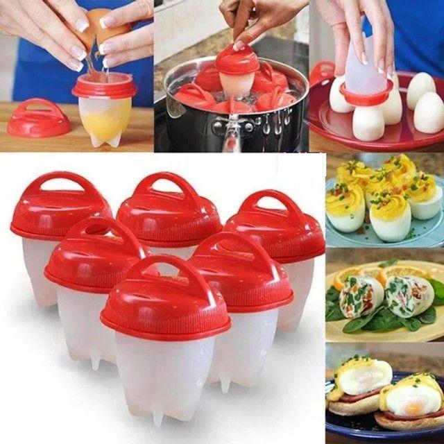 6 Forma De Silicone Cozinhar Ovos Fácil E Rápido Formas novo lacrado
