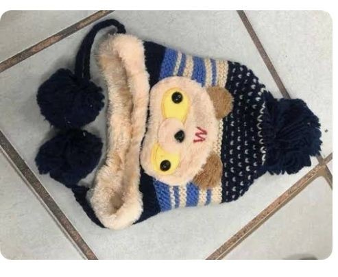 Touca Infantil Gorro de Criança de Lã Ursinho Inverno Forrado De Pelinho - Foto 5