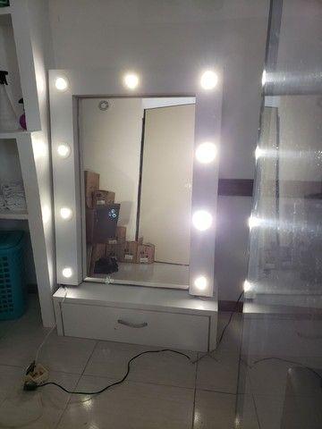Espelho, bancada com leads  linda - Foto 3