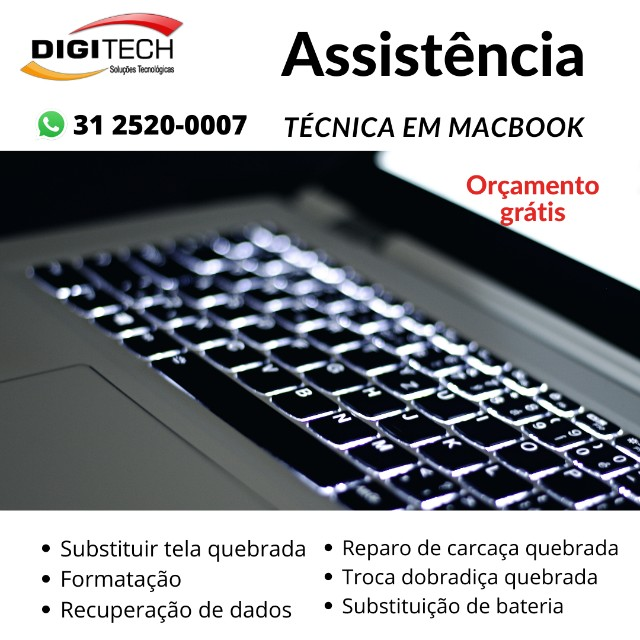 MacBook Assistência técnica em BH