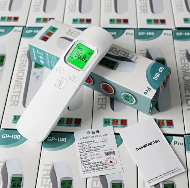 Termômetro infra vermelho GP-100 display LCD 3 cores auto OFF, preciso e rápido - Foto 6