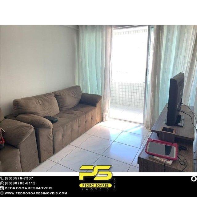 (MOBILIADO) Apartamento com 2 dormitórios para alugar, 60 m² por R$ 2.000/mês - Tambaú - J - Foto 8