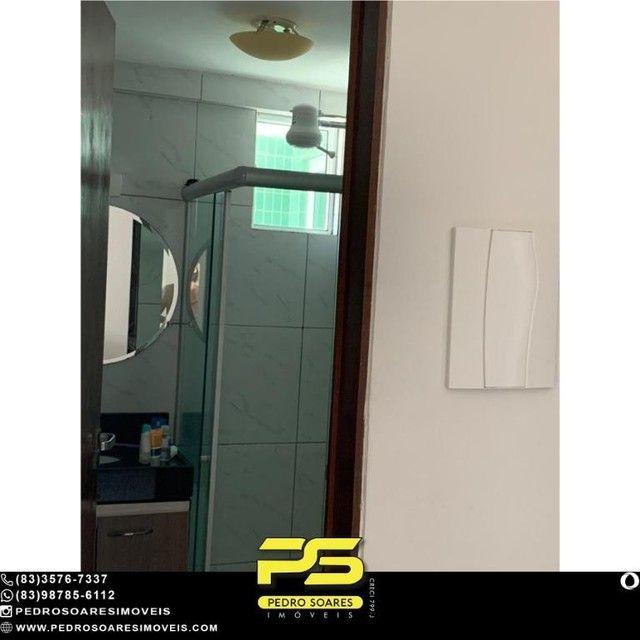 (MOBILIADO) Apartamento com 2 dormitórios à venda, 60 m² por R$ 360.000 - Tambaú - João Pe - Foto 14