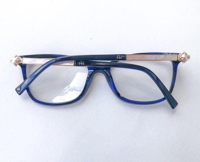 Óculos Armação com Lente Ana Hickman Usado  - Foto 5