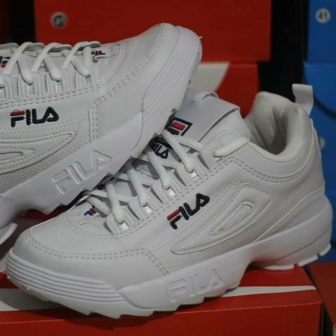 0c3d9850a4f04 Tênis Fila Disruptor 2 - Branco c/ Rosa - Roupas e calçados - Rio ...