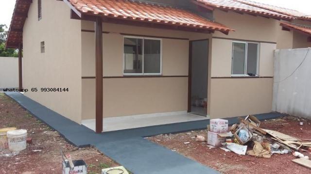 Casa para venda em várzea grande, novo mundo, 2 dormitórios, 1 banheiro, 4 vagas - Foto 8
