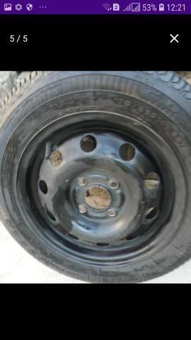 Pneu com roda 4x100,aro 14 step não foi usado