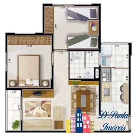 AP00414 - Ótimo Apartamento no Condomínio Residencial Marselha. - Foto 12