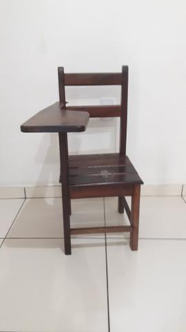 Cadeira de estudante de madeira - Foto 2