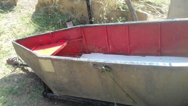Canoa de zinco com carretinha - Foto 3