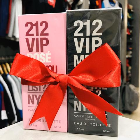 Kit Perfume 212 VIP Rosé NYC + 212 VIP Men CH Carolina Herrera 50ml