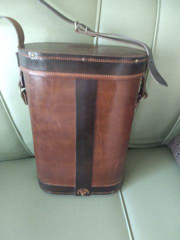Bolsa em couro para transporte de chimarrão. - Foto 4
