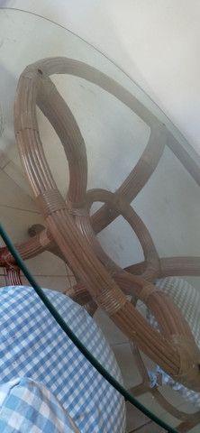 Mesa com tampo de vidro - Foto 4