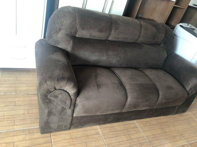 Sofá em camurça novo - Foto 3