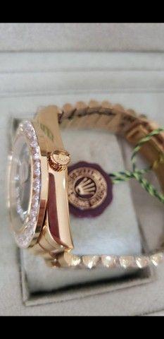 Relógio Rolex Oyster Perpetual Day Date automático a prova d'água Completo - Foto 3