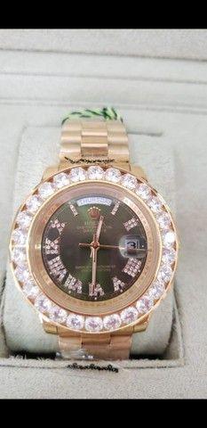 Relógio Rolex Oyster Perpetual Day Date automático a prova d'água Completo