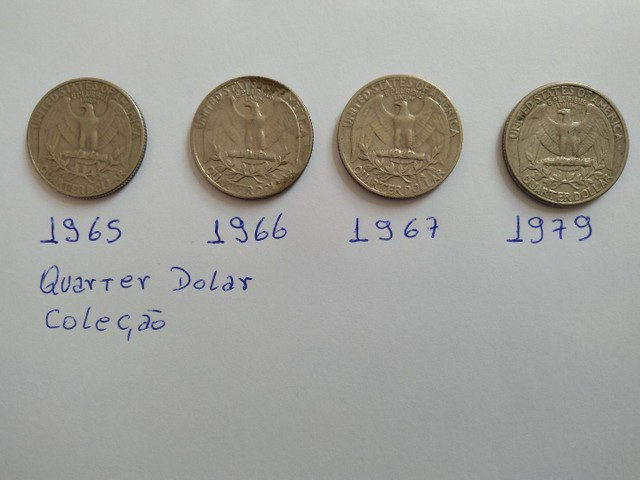 Moedas quarter dolar antigas - Foto 2