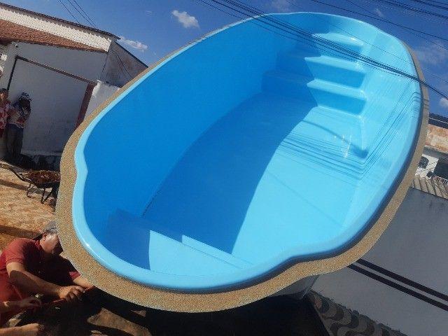 piscinas em fibra (casco) - Foto 4