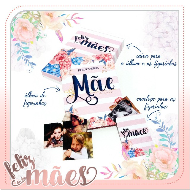 Album de Figurinhas personalizado Dia das Mães