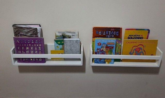 Kit nichos + prateleiras para livros + brinde - Foto 3