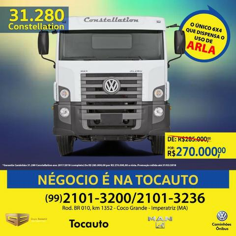 VW 31.280 Constellation Cabine Estendida 6x4