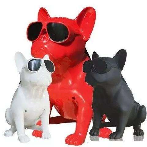Caixa De Som Amplificada Modelo Cachorro Bulldog Bluetooth