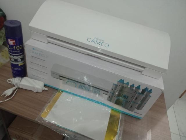 327ce0cb17 Silhouette Cameo 3 + Kit Vinil + Bônus de Produtos Semi-Nova ...