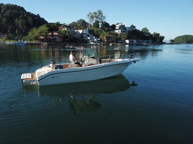 Lancha Fishing 265 - Mercruiser 5.0 V8 gasolina - Impecável - Foto 10