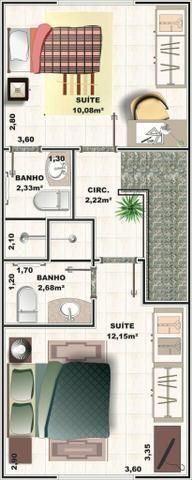 Casas com duas suítes , aceita financiamento Caixa - Foto 13