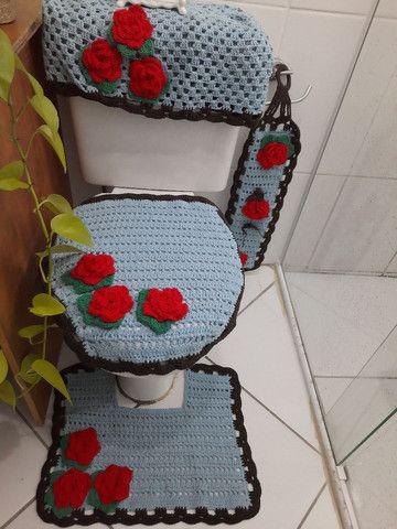 Jogo de banheiro floral - Foto 3