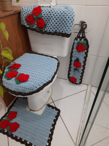 Jogo de banheiro floral - Foto 5