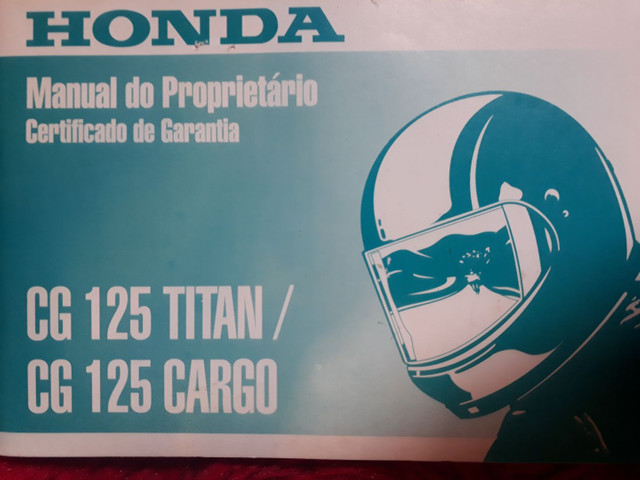 Manual Do Proprietário Honda Cg 125 Titan/ Cg 125 Cargo