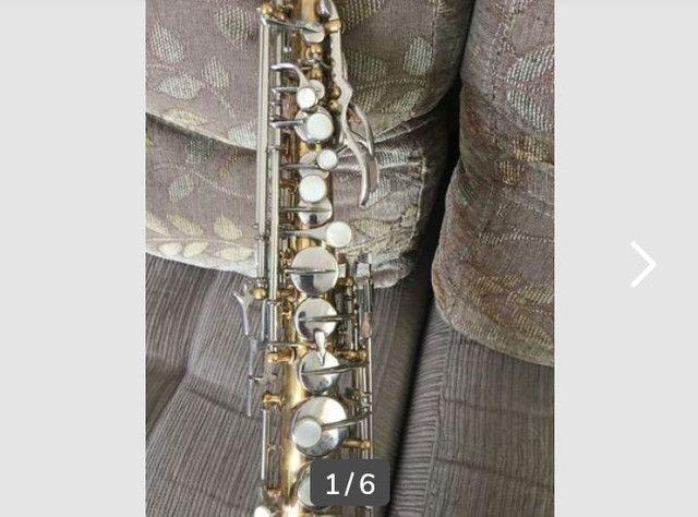 Vendo um  Sax soprano Carl Fisher com case e brindes - Foto 3